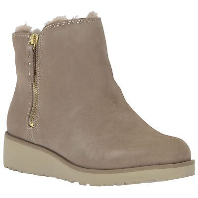 Ugg Australia Shala Fawn Womens Suede Winter Ankle Boots