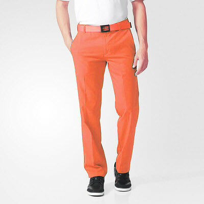 adidas ClimaLite Tech Mens Golfing Pant Trousers - Orange