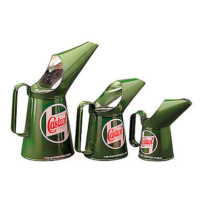 Castrol Set Of 3 Vintage Logo Replica Pouring Cans/Jugs-Garage/Rally/Motorsport