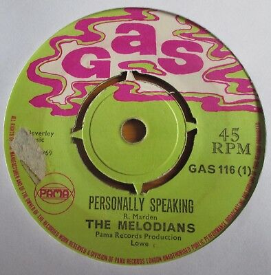 The Melodians - Personally Speaking - Gas
