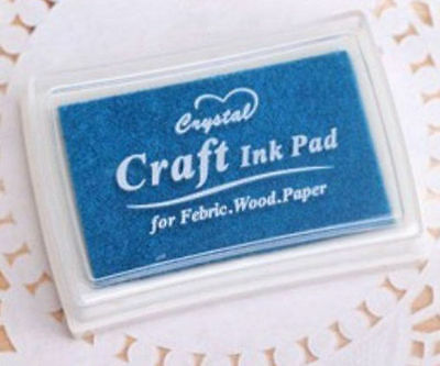 Lake Blue DIY Craft Ink Pad Oil Based For Rubber Stamps Paper Wood Fabric