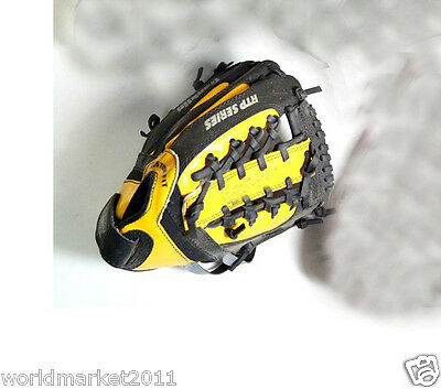 Sporting Goods PVC Material 9 Inches Wear-Resisting Baseball Glove Yellow&$