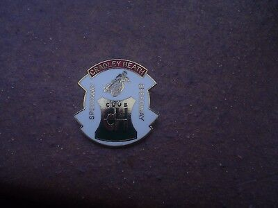 Rare Club Cradley Heath In White    Speedway Badge Mint Con In Gold