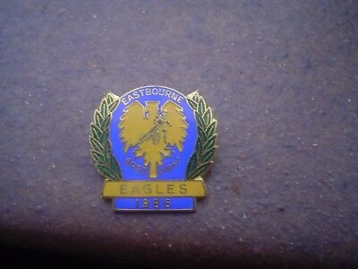 Eastbourne Eagles  1986    Speedway Badge Mint Con In Gold