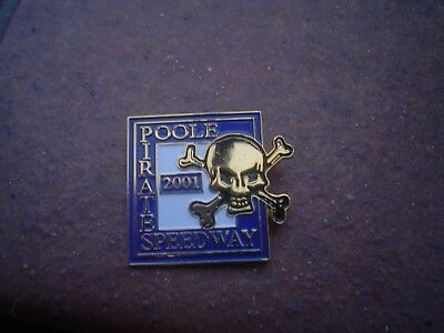 Poole Pirates 2001    Speedway Badge Mint Con In Gold