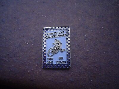 Ipswich 1951-2011  60 Years    Speedway Badge Mint Con In Gold