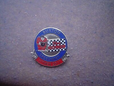 Buxton 2017 Red Bottom     Speedway Badge Mint Con In Silver