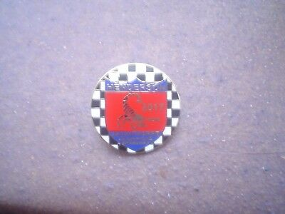 Scunthorpe   2017 Red/blue Bottom     Speedway Badge Mint Con In Gold