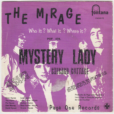 THE MIRAGE Mystery Lady RARE Portugal EP UK psych Fading Yellow Seth Martin HEAR