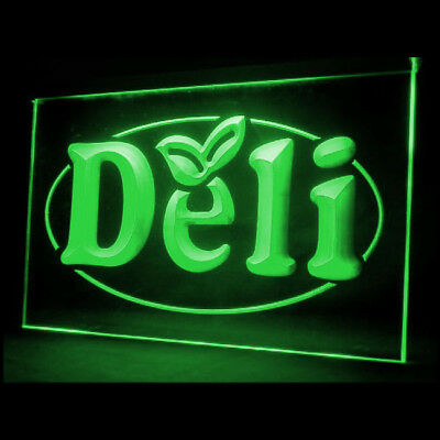 110031 Deli Cafe Restaurant Vegetable Sandwich Fresh Pork Modern LED Light Sign