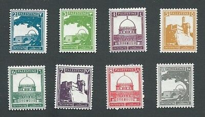 1927 Palestine, 8 Different Definitive Stamps To 10 M. Mint Hinged