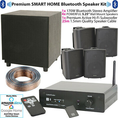 PREMIUM BLUETOOTH WALL Speaker & Subwoofer Kit – Wireless HiFi Amplifier  System
