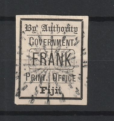 Fiji Official Print Office vf used