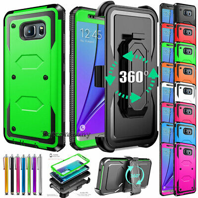 For Samsung Galaxy Note 5 Belt Clip Holster Hybrid Protective Rugged Case Cover