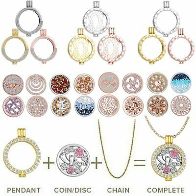 Beauty Xmas Mi Disc My Coin/Locket Pendant Holder/Chain For DIY Crystal Necklace