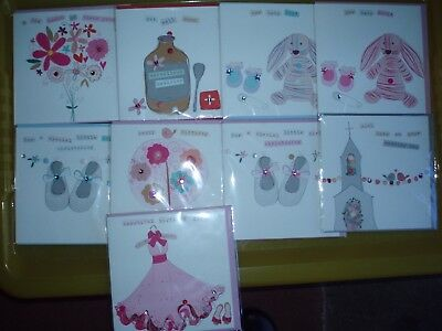 12 * Handfinished / Embellished * Birthday & Greetings cards
