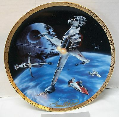 Star Wars B-Wing Fighter 1995 Hamilton Plate #2139A Signed by Artist COA