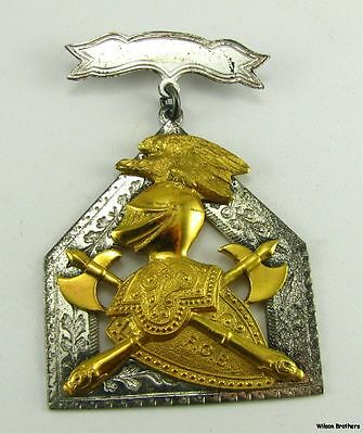 KNIGHTS OF PYTHIAS - Antique Silver FCB fraternal Medal