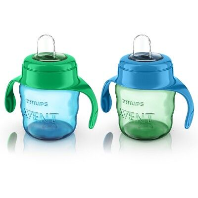 Philips AVENT - My Easy Sippy Cup 7 oz, 2-Pack - Green/Blue