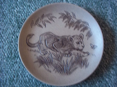 Poole Pottery Stoneware Plate Wildlife Series -  Tiger Cub