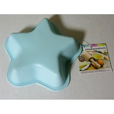 Kleine Silikon Backform Stern blau 13cm Kuchenform Cupcake Form Muffin Party