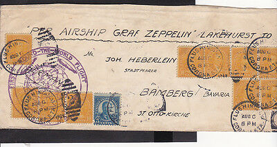 B2 /    Zeppelin Brief / Lakehurst - Flushing - Bamberg 1929