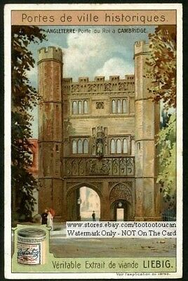 Great Gate Cambridge England Architecture c1907 Trade Ad Card
