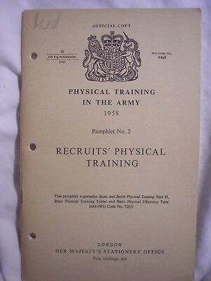 British Army Recruits Training Manual 1958 APTC Cold War History