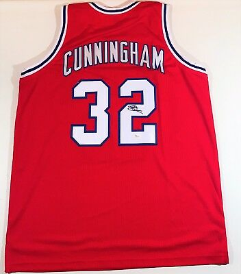 Billy Cunningham Signed 76Ers  Custom Red Jersey Jsa W Authenticated