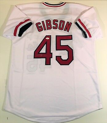Bob Gibson Signed Cardinals Custom White Jersey Jsa Witnessed