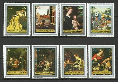 Paintings-1972 Fujeira-MNH Complete Set