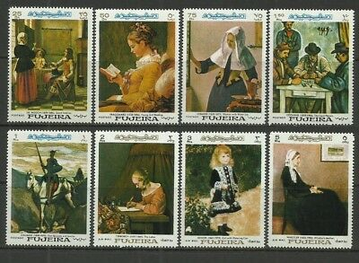 Paintings-1967 Fujeira-MNH Complete Set