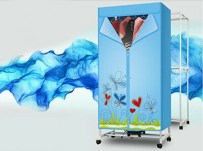 Portable Home Energy-saving Mute Rotary Control Panel Electric Air Clothes Dryer