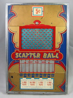 SCATTER BALL by SECORE & SECORE PUNCH BOARD TRADE STIMULATOR PELLET STAND 1951