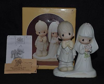 """Precious Moments """"the Lord Bless You And Keep You"""" Bride & Groom -E3114 Dove Nib"""