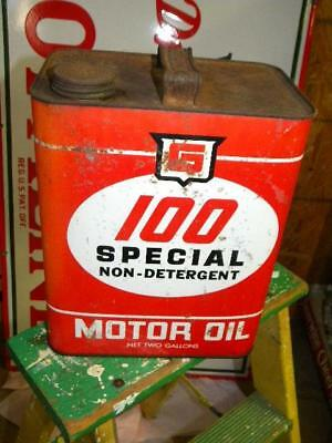 Old Gurley G 100 2 Gallon Motor Oil Metal Can Empty Memphis Tennessee
