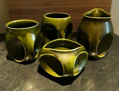 Set of 4 Owl Design Holkham Pottery