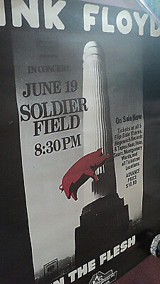 Pink Floyd Concert Poster Soldier Field Chicago 6/19/77 In The Flesh Clean Dke