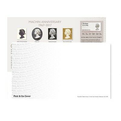 Royal Mail First Day Cover Envelope & Insert Card Machin Anniversary 1967-2017
