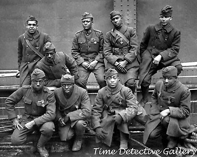 The Harlem Hellfighters, African American WWI Unit - Historic Photo Print