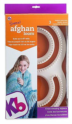 Kb Knitting Board Afghan Loom S Shape Knits up to 60in Wide