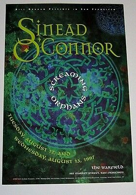Sinead O'Connor 1997 The Warfield Concert Poster bgp