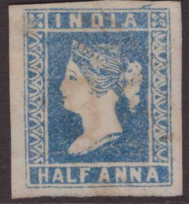 India Litho QV 1854 SG3 ½a Pale Blue Used