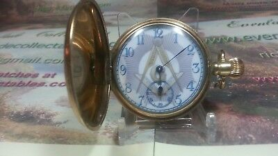 Masonic Compass-and-Crest Hunter Pocket Watch