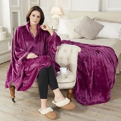 BN Cozee Home Angel Plush throw and zip up wrap Berry- Boxed UK SELLER