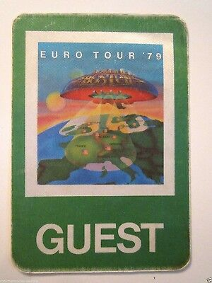 BOSTON EURO TOUR 79 GC Satin Concert Pass Scotland France Germany Denmark ++