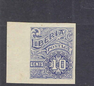 """Liberia 1918 10c numeral official, IMPERFORATE margin copy, """"OS"""" MISSING #O101"""