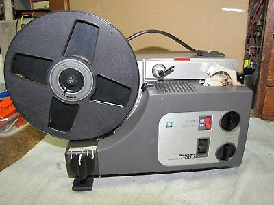 Vintage Sankio Dualux 1000  8mm / S8mm  Film Movie Projector works Free shipping