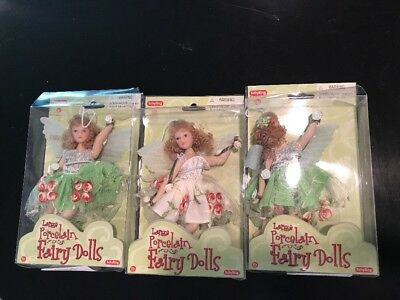 "3 Schylling Porcelain Fairy Dolls 6.5"" New in Box"