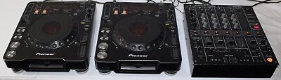 Pair of Pioneer DJ Turntable Direct Drive CDJ-1000 MK1 and DJM-500 Mixer NICE!!!